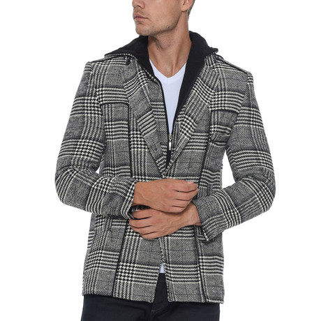Shasta Overcoat // Checked Black (Small)