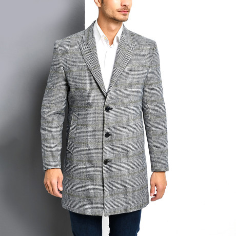 La Plata Overcoat // Checked Gray (Small)