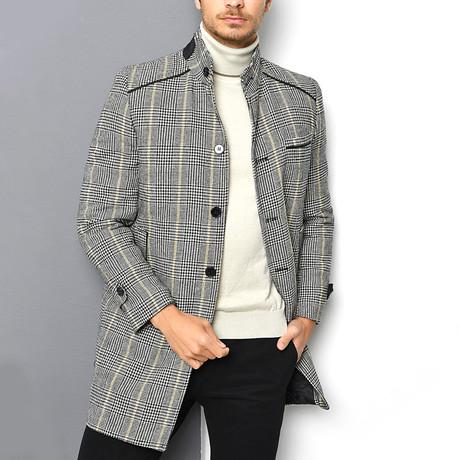 Appalachian Overcoat // Checked Gray (Small)