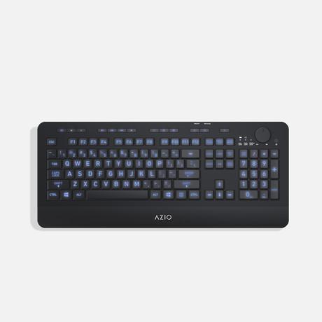 Azio Vision // Large-Font Backlit Wireless Keyboard