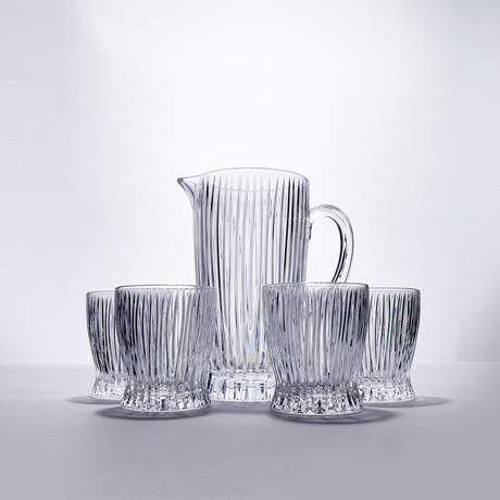 Fire + Ice Tumblers + Pitcher // 5 Piece Set