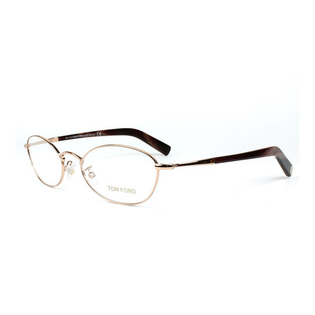 Tom Ford // Men's Optical Frames // Dark Brown + Gold