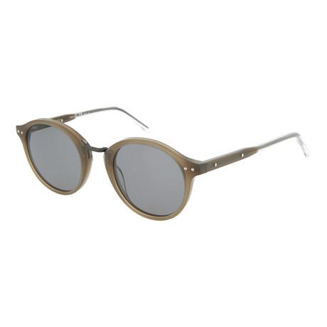 Unisex Round Sunglasses // Brown + Gray