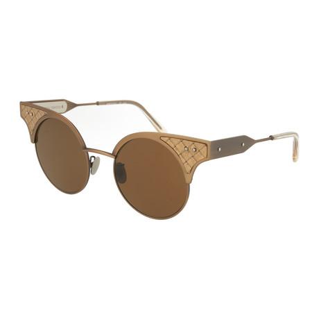 Women's Round Sunglasses // Bronze + Brown