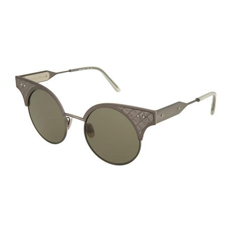 Women's Round Sunglasses // Ruthenium + Gray