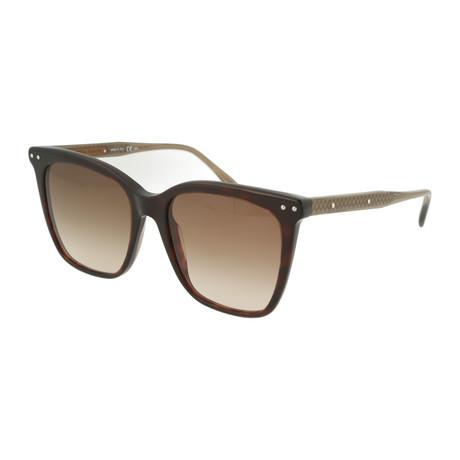 Women's Square Sunglasses // Brown + Bronze