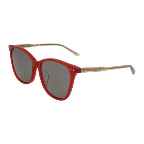 Women's Cat Eye Sunglasses // Red + Gray