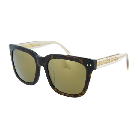 Women's Square Sunglasses // Havana + Beige