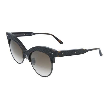 Women's Cat Eye Sunglasses // Dark Havana + Black