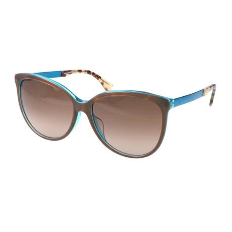 Women's 0095 Sunglasses // Brown + Turquoise