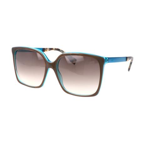 Women's 0076 Sunglasses // Brown + Turquoise