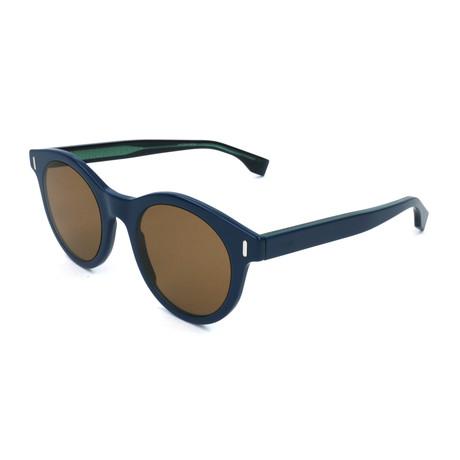 Men's M0041 Sunglasses // Blue + Brown