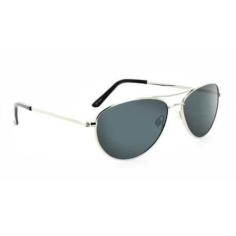 Unisex Sliver Polarized Sunglasses // Silver