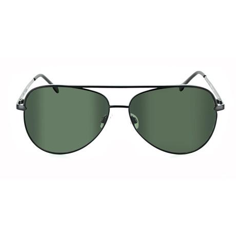 Unisex Flatscreen Polarized Sunglasses // Satin Black