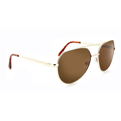 Unisex Bisto Polarized Sunglasses // Gold