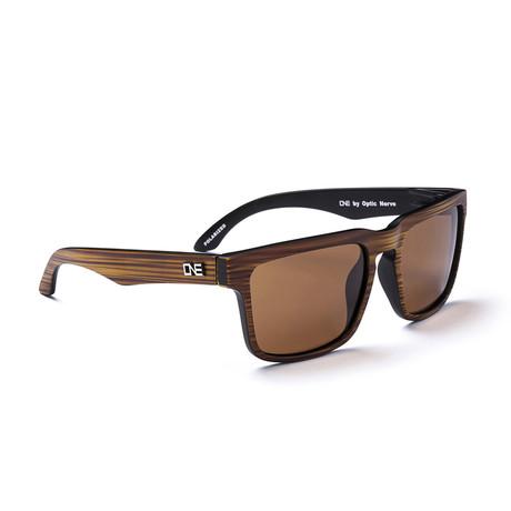 Unisex Mashup Polarized Sunglasses // Matte Driftwood