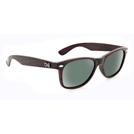 Unisex Revtown Polarized Sunglasses // Matte Dark Wood