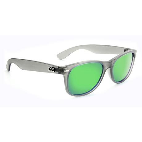 Unisex Revtown Polarized Sunglasses // Matte Crystal Gray