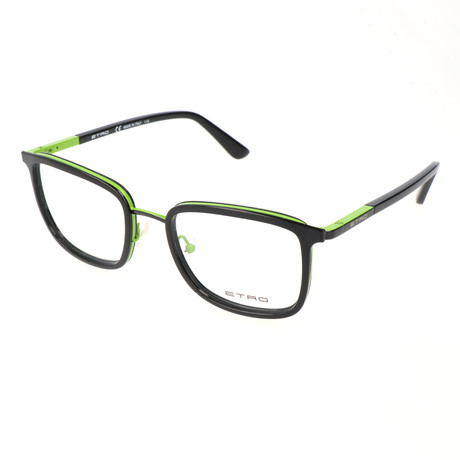 Men's ET2103 008 Optical Frames // Black + Green