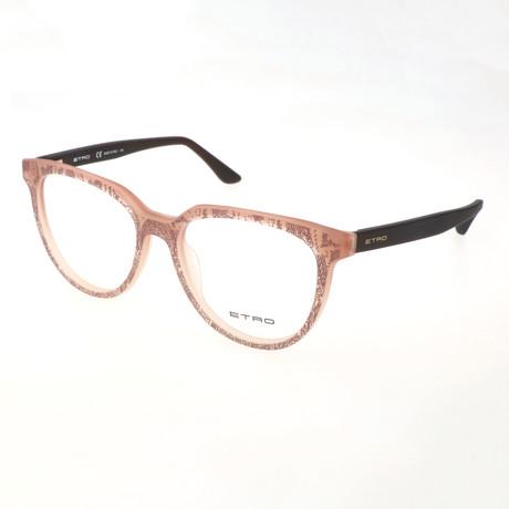 Women's ET2613 217 Optical Frames // Matte Gradient Brown + Pink Paisley