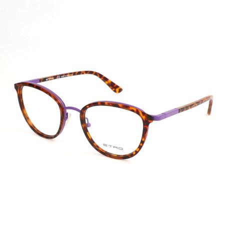 Women's ET2100 204 Optical Frames // Dark Havana + Violet