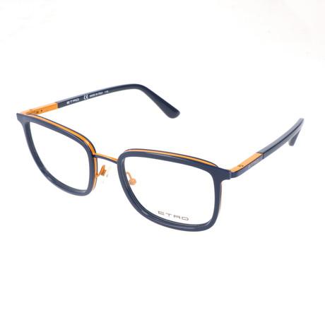 Men's ET2103 412 Optical Frames // Blue + Ochre