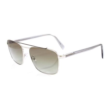 Prada // Men's PR61US Sunglasses // Brown + Silver