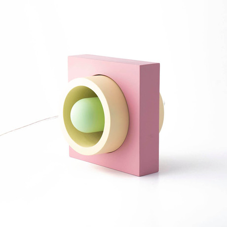 Donut Table Lamp // Pink + Yellow + Green