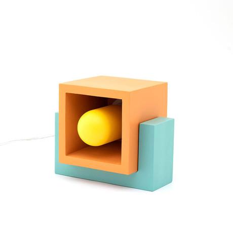 Marshmallow Table Lamp // Orange + Mint + Yellow