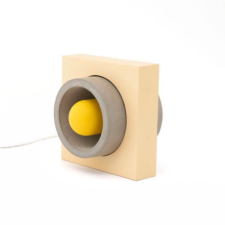 Donut Table Lamp // Gray + Yellow