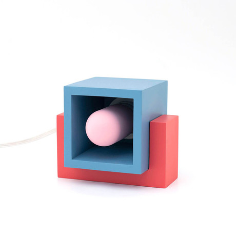Marshmallow Table Lamp // Blue + Red + Pink