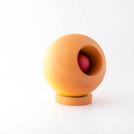 Venus Round Table Lamp // Orange + Red