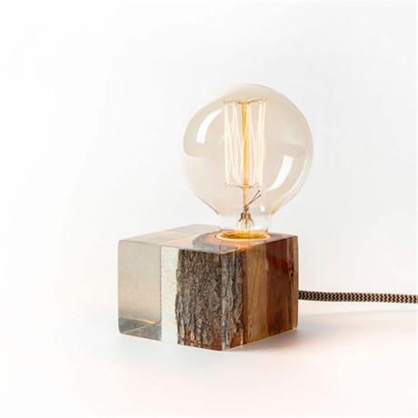 Epoxy Table Lamp // Orange