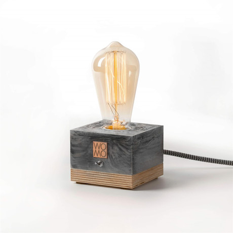 Marble Textured Table Lamp // Dark Gray