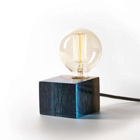Epoxy Table Lamp // Blue