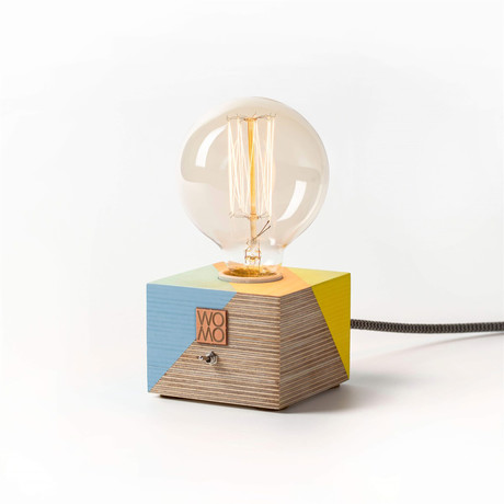 Wooden Table Lamp // Multicolor