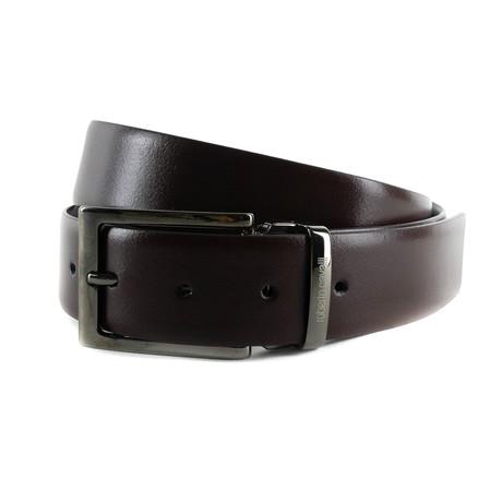 Roberto Cavalli // Smooth Leather One-Size Belt // Black