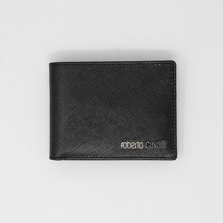 Textured Bi-Fold Wallet // Black V2
