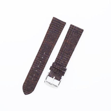 Flannel Collection // Dark Brown Glencheck (20mm)