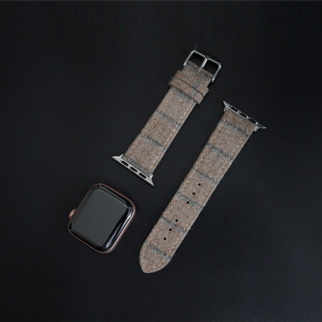 Flannel Collection // Apple Watch // Light Tan Double Stripe (38mm/40mm)