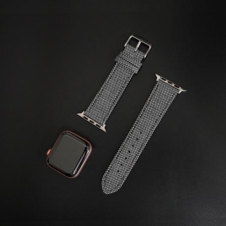 Cambridge VII Collection // Apple Watch // Black + White Birdseye (38mm/40mm)
