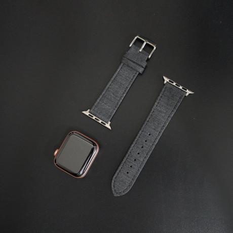 Cambridge VII Collection // Apple Watch // Medium Light Gray Herringbone (38mm/40mm)