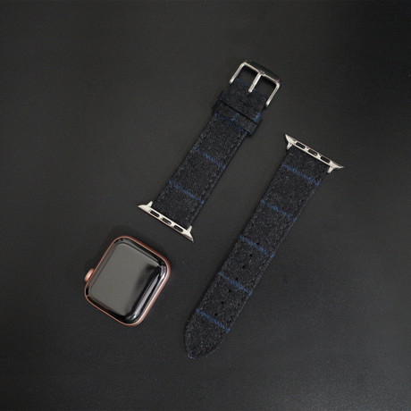 Flannel Collection // Apple Watch // Charcoal With Blue Chalkstripe (38mm/40mm)