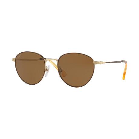 Men's Polarized Sunglasses // Havana + Gold