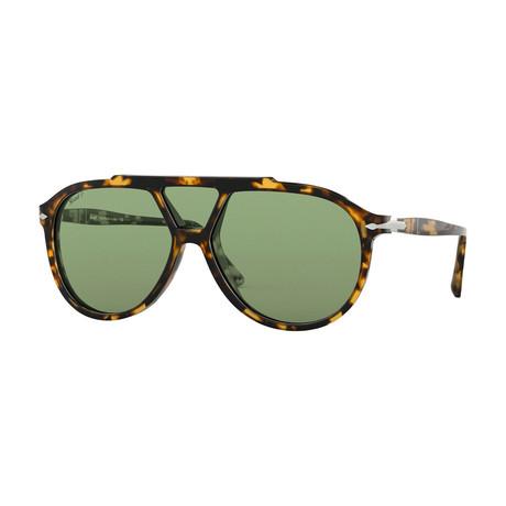 Men's Polarized Sunglasses II // Havana + Green