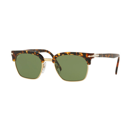 Men's Polarized Sunglasses I // Havana + Green