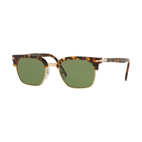Men's Sunglasses // Gold + Havana + Green