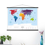 World Travel Map // Silver
