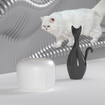 Moda-Pure // Ultra-Quite Filtered Dog + Cat Fountain Waterer (Pink)