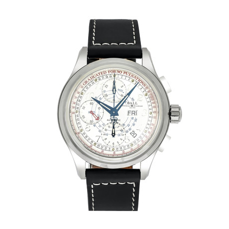 Ball Trainmaster Pulse Meter Chronograph Automatic // CM1010D-LJ-WH-BK // Store Display